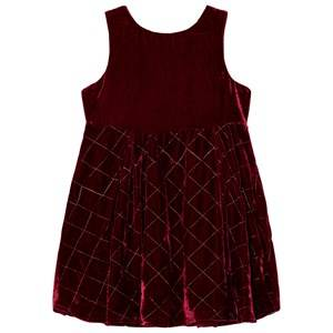 Andy & Evan Girls Dresses Red Red Maroon Quilted Sleeveless Dress