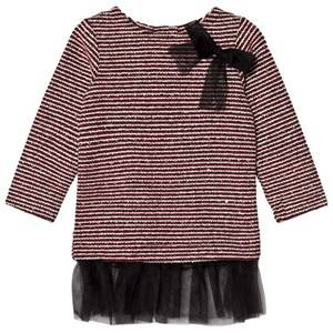 Andy & Evan Girls Dresses Red Maroon Sequins Sweater Stripe Tunic