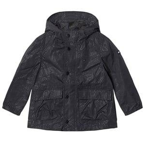 Tommy Hilfiger Boys Coats and jackets Black Black All Over Print Hooded Raincoat