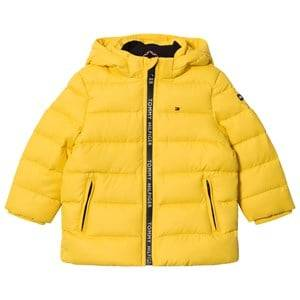 Tommy Hilfiger Boys Coats and jackets Yellow Yellow Down Hooded Jacket