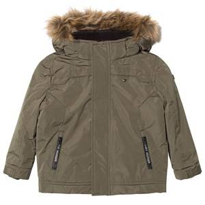 Tommy Hilfiger Boys Coats and jackets Green Khaki Padded Hooded Jacket