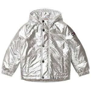 Tommy Hilfiger Boys Coats and jackets Silver Silver Hooded Padded Parka