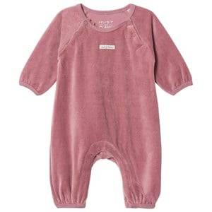 Hust&Claire; Girls All in ones Purple Velour One-Piece Baby Plum