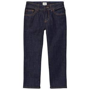 Giorgio Armani Junior Boys Bottoms Navy Indigo Raw Denim Regular Fit Jeans