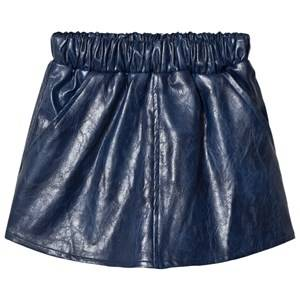 Kiss How To Kiss A Frog Girls Skirts Blue Peach Skirt Faux Leather Blue