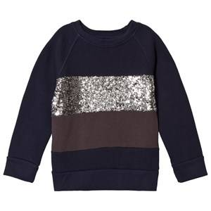 Kiss How To Kiss A Frog Girls Jumpers and knitwear Navy Siv Jumper Navy/Silver/Dark Grey