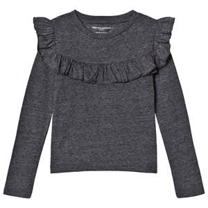 Kiss How To Kiss A Frog Girls Tops Grey Frill Tee Grey