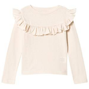 Kiss How To Kiss A Frog Girls Tops White Frill Tee Off White