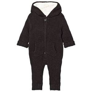 The Little Tailor Boys All in ones Grey Dark Grey Chunky Knit Onesie