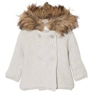 The Little Tailor Girls Coats and jackets Grey Grey Pixie Jacket Faux Fur Trim