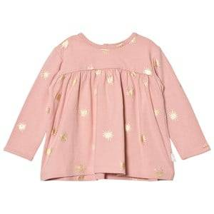 The Little Tailor Girls Tops Pink Pink Baby Swing Long Sleeve Jersey Top