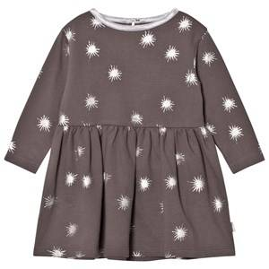 The Little Tailor Girls Dresses Grey Dark Grey Baby Jersey Dress