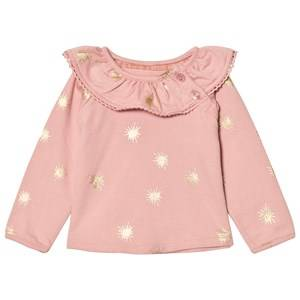 The Little Tailor Girls Tops Pink Pink Baby Slim Collar Sweater