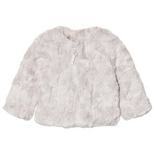 The Little Tailor Girls Coats and jackets Grey Grey Faux Fur Jacket