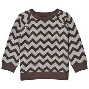 The Little Tailor Boys Jumpers and knitwear Grey Grey ZigZag Baby Sweater