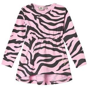 Nova Star Girls Dresses Grey Dress Zebra Pink