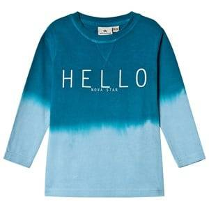 Nova Star Unisex Tops Green T LS Dip Dyed Hello