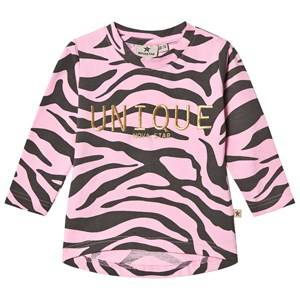 Nova Star Unisex Tops Pink Zebra Long Sleeve Top