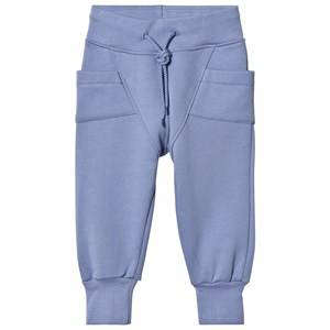 Gugguu Unisex Bottoms Blue College Baggy Pants Ice Blue