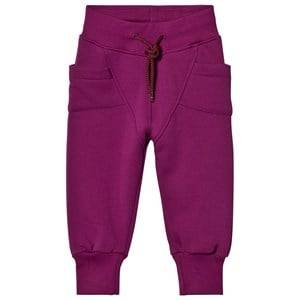 Gugguu Unisex Bottoms Purple College Baggy Pants Grape Juice