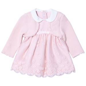 Mayoral Girls Clothing sets Pink Pink Embroidered Dress with Attached Cardigan