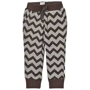 The Little Tailor Boys Bottoms Grey Grey ZigZag Baby Sweatpants