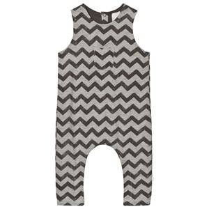 The Little Tailor Boys All in ones Grey Grey Baby Slouch Dungarees