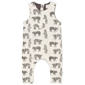 The Little Tailor Boys All in ones Cream Cream Bear Baby Slouch Dungarees