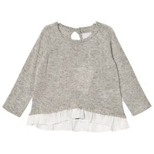 The Little Tailor Girls Jumpers and knitwear Grey Grey Baby Girls Mock Double Layer Sweater