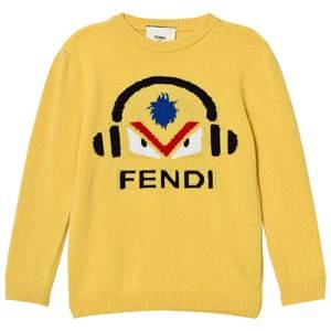Fendi Boys Jumpers and knitwear Yellow Mustard Monster DJ Wool Jumper