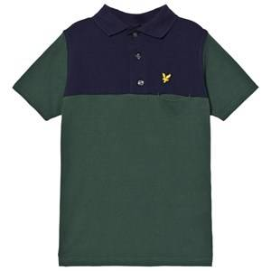 Scott Lyle & Scott Boys Tops Green Musk Green Color Block Polo
