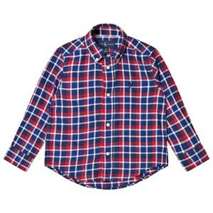 Ralph Lauren Boys Tops Red Navy/Red Plaid Shirt