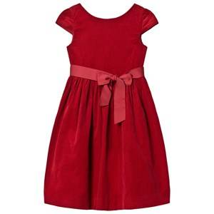 Ralph Lauren Girls Dresses Red Red Corduroy Velvet Bow Dress
