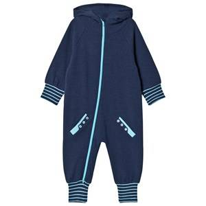 Geggamoja Boys All in ones Blue College Onesie Marine