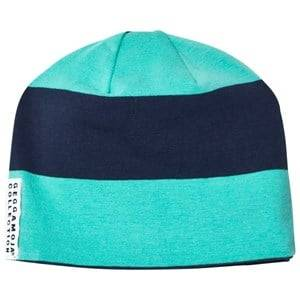 Geggamoja Boys Headwear Green Striped Hat Greenturquoise/Marine