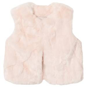The Little Tailor Girls Coats and jackets Pink Pink Baby Faux Fur Gilet