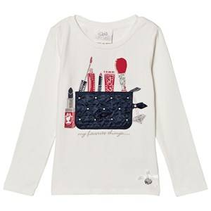 Le Chic Girls Tops White Off White Make Up Bag Tee