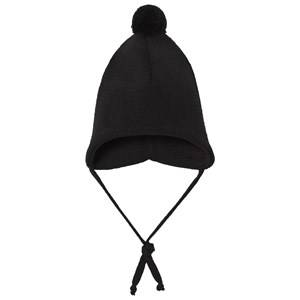 Geggamoja Boys Headwear Black Knitted Helmet Hat Black