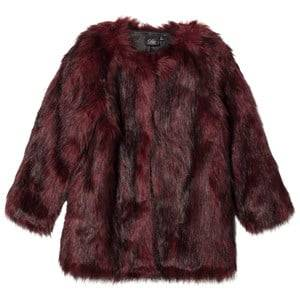 Petit by Sofie Schnoor Girls Coats and jackets Red Faux Fur Jacket Bordeuax