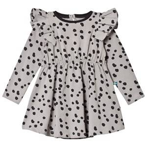 The BRAND Girls Private Label Dresses Green Winde Flounce Dress Grey Dot
