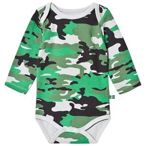 The BRAND Boys Private Label All in ones Green Bolt Body Light Camo With Black Red Bolt