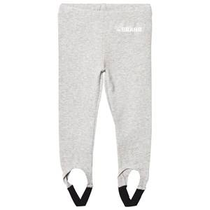 The BRAND Girls Private Label Bottoms Grey Leggings with Elastic Straps Grey