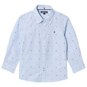 Tommy Hilfiger Boys Tops Blue Blue Branded Dobby Shirt