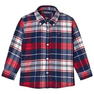 Tommy Hilfiger Boys Tops Navy Navy/Red Branded Check Shirt