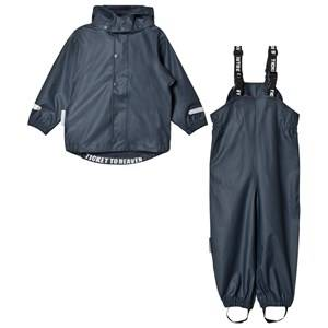 Ticket to heaven Unisex Clothing sets Navy 2-Piece Rain Set with Detachable Hood Total Eclipse