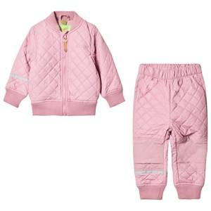 Celavi Unisex Fleeces Pink Thermal Set Rose