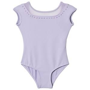 Bloch Girls All in ones Purple Lilac Fremont Pearl Studded Neckline Cap Sleeve Leotard
