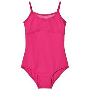 Bloch Girls All in ones Pink Hot Pink Alita Vine Flock Camisole Leotard