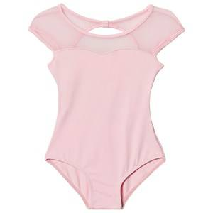 Bloch Girls All in ones Pink Pink Azurine Vine Flock, Scoop Back and Cap Sleeve Leotard