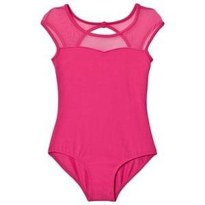Bloch Girls All in ones Pink Hot Pink Azurine Vine Flock, Scoop Back and Cap Sleeve Leotard